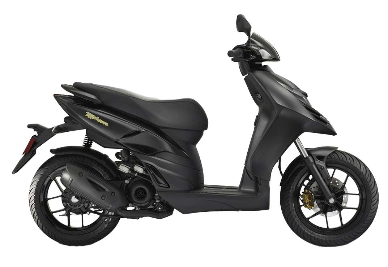 scooter 50 piaggio noir typhoon